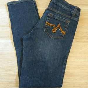 Cache Blue Jeans Dark Wash Boot Cut Size 6